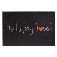 Vnitřní vstupní čistící rohož Mondial, Hello my love, FLOMA - délka 50 cm a šířka 75 cm