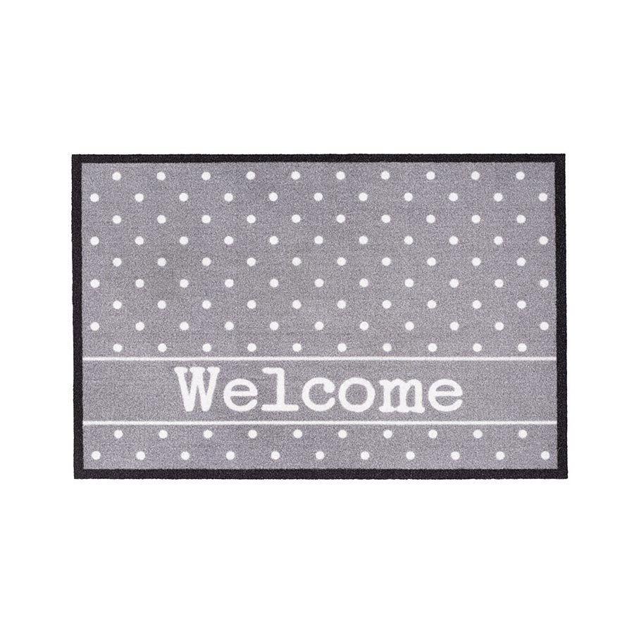 Vnitřní vstupní čistící rohož Mondial, Welcome - Dots, FLOMA - délka 40 cm a šířka 60 cm FLOMAT