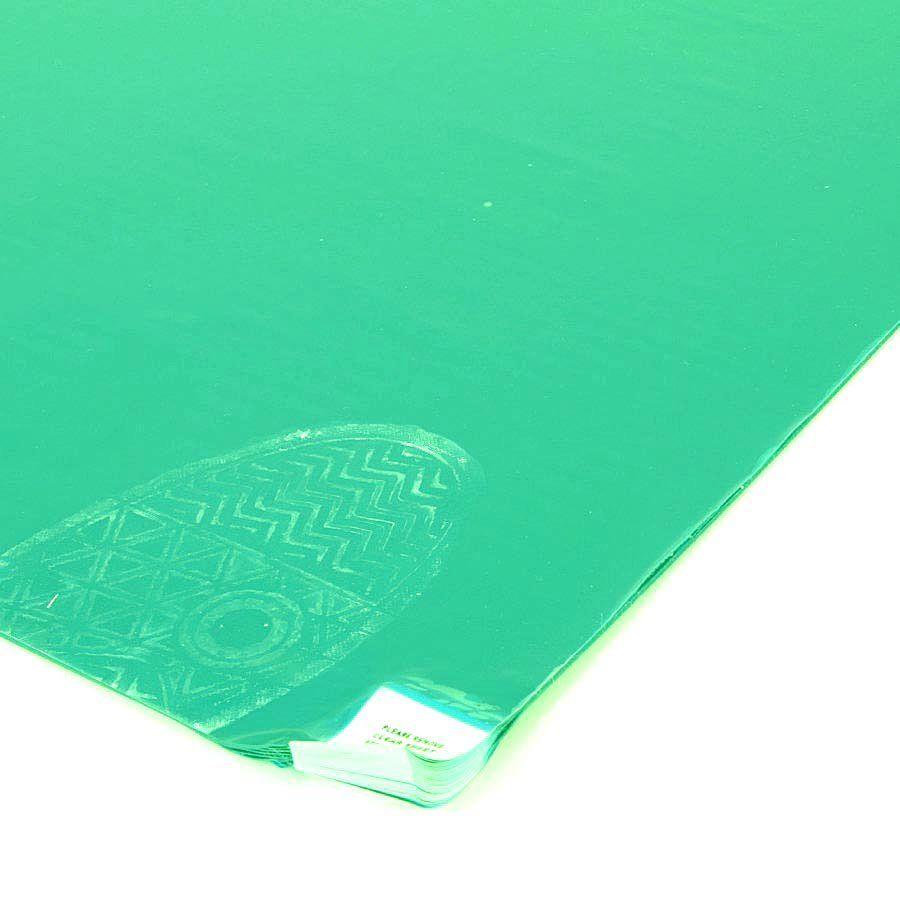 Zelená lepící dezinfekční dekontaminační rohož FLOMA - délka 115 cm a šířka 45 cm - 60 listů FLOMAT