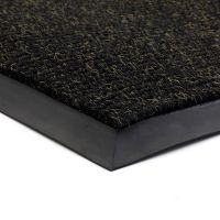 Černá textilní vstupní vnitřní čistící zátěžová rohož Catrine, FLOMAT - délka 300 cm, šířka 150 cm a výška 1,35 cm