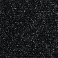 Černá textilní vstupní vnitřní čistící zátěžová rohož Catrine, FLOMAT - délka 60 cm, šířka 90 cm a výška 1,35 cm