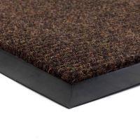 Hnědá textilní zátěžová čistící vnitřní vstupní rohož Catrine, FLOMA - délka 80 cm, šířka 120 cm a výška 1,35 cm FLOMAT
