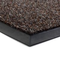 Tmavě hnědá textilní vstupní vnitřní čistící zátěžová rohož Catrine, FLOMAT - délka 300 cm, šířka 500 cm a výška 1,35 cm
