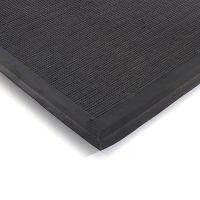 Tmavě hnědá textilní vstupní vnitřní čistící zátěžová rohož Catrine, FLOMAT - délka 80 cm, šířka 100 cm a výška 1,35 cm