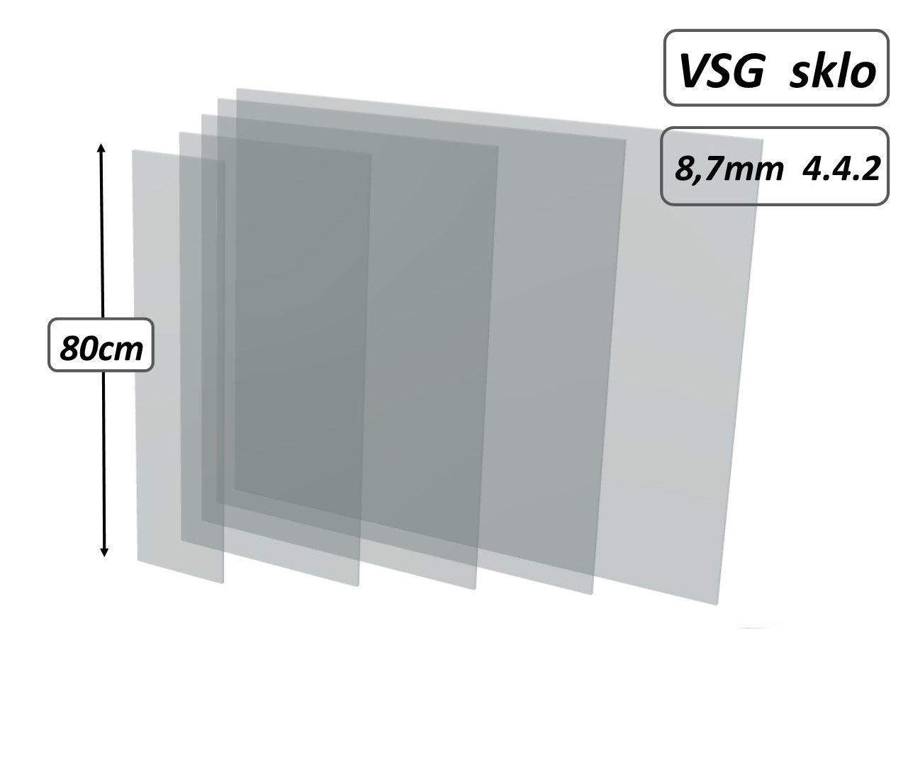 Skleněná výplň zábradlí- sklo mléčné,matné lepené VSG 4.4.2