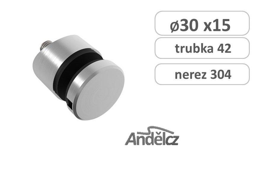 Držák skla bodový D30/M8x15mm na trubku