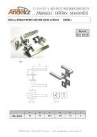 Klika se štítkem NEREZ AISI 304, K320, L135mm