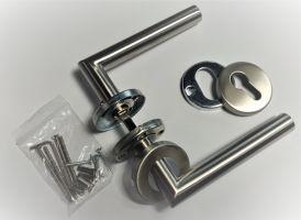 Klika se štítkem NEREZ AISI 304, K320, L135mm kulatá