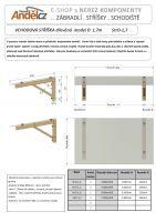 VCHODOVÁ STŘÍŠKA dřevěná model D 1,7m