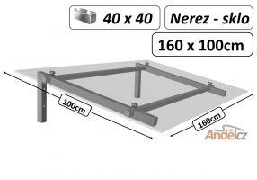 VCHODOVÁ STŘÍŠKA  model H hranatý1,6m