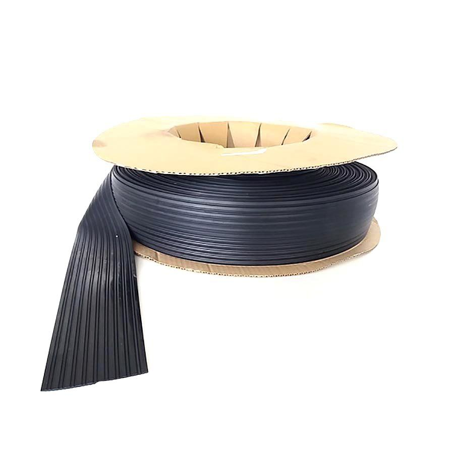 Černá pryžová protiskluzová ochranná podložka (pás) pro přepravu zboží FLOXO - délka 60 m, šířka 10 cm a výška 3 mm FLOMAT