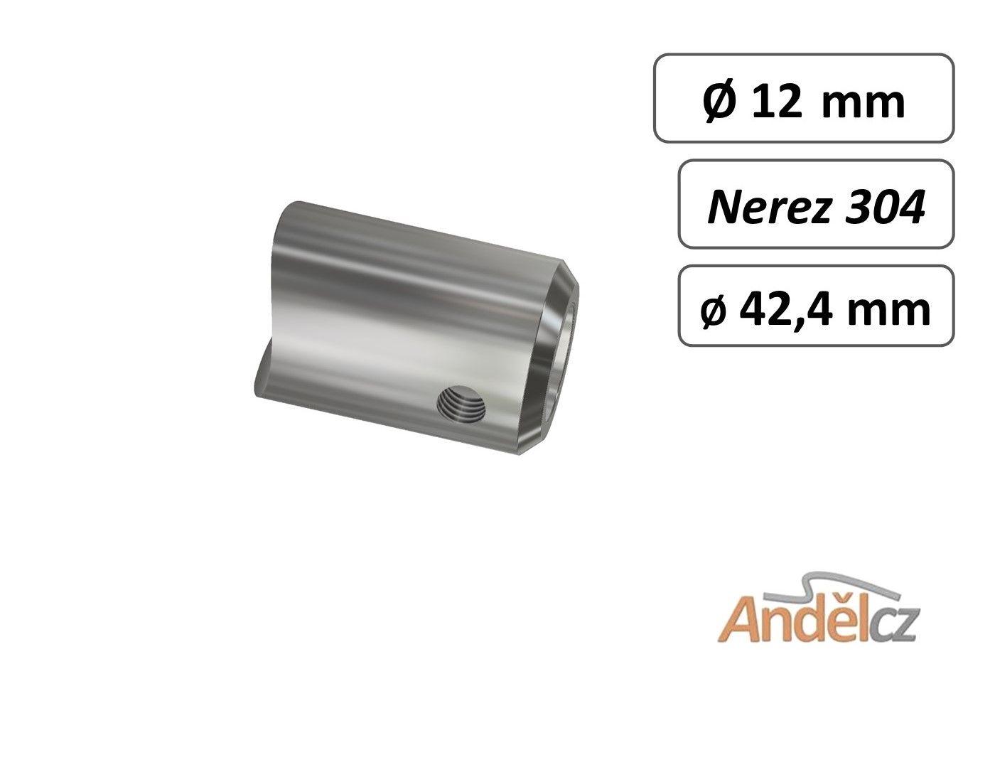 Držák přímý D12mm na trubku 42.4mm