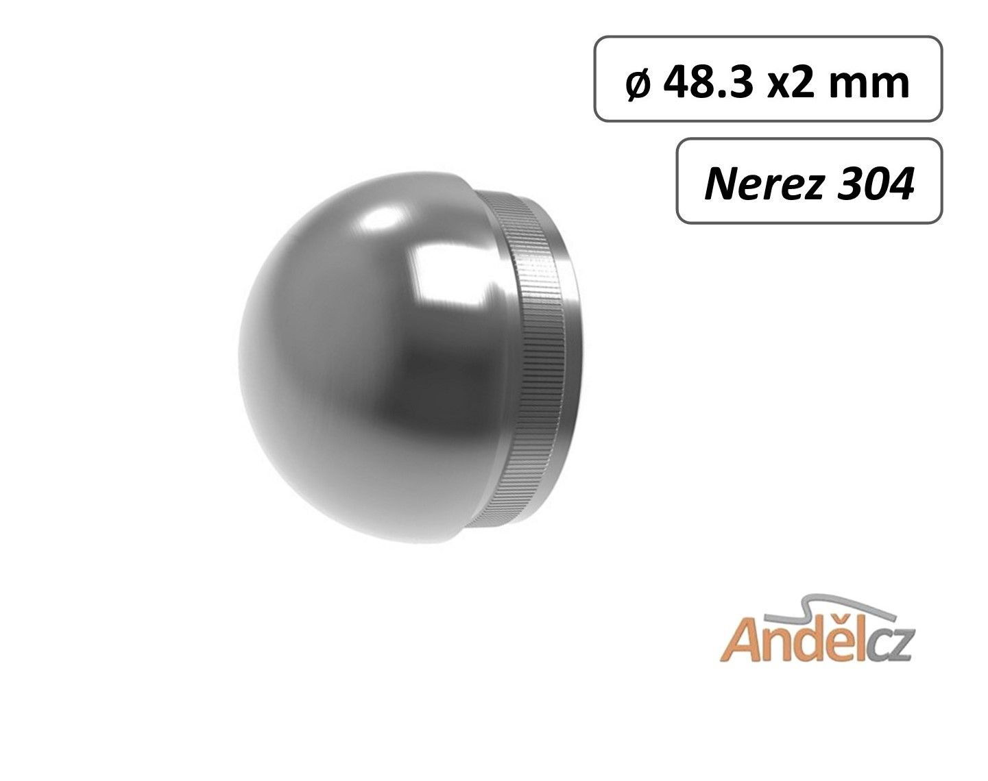 Koncovka madla půlkulatá 48,3mm