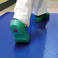 Světle modrá lepící dezinfekční dekontaminační rohož FLOMA - délka 115 cm a šířka 45 cm - 60 listů FLOMAT