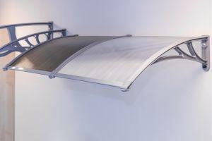 Vchodová stříška Modulo 140 x 150 cm šedá / čirá