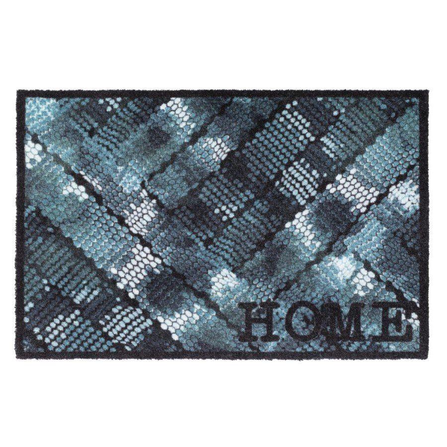 Vnitřní vstupní čistící pratelná rohož Prestige, Home blue texture, FLOMA - délka 50 cm a šířka 75 cm FLOMAT