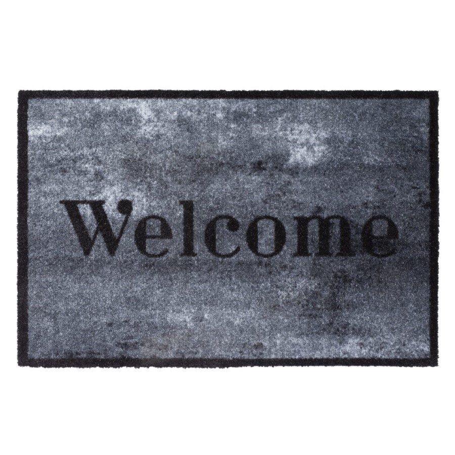 Vnitřní vstupní čistící pratelná rohož Prestige, Welcome concrete, FLOMA - délka 50 cm a šířka 75 cm FLOMAT