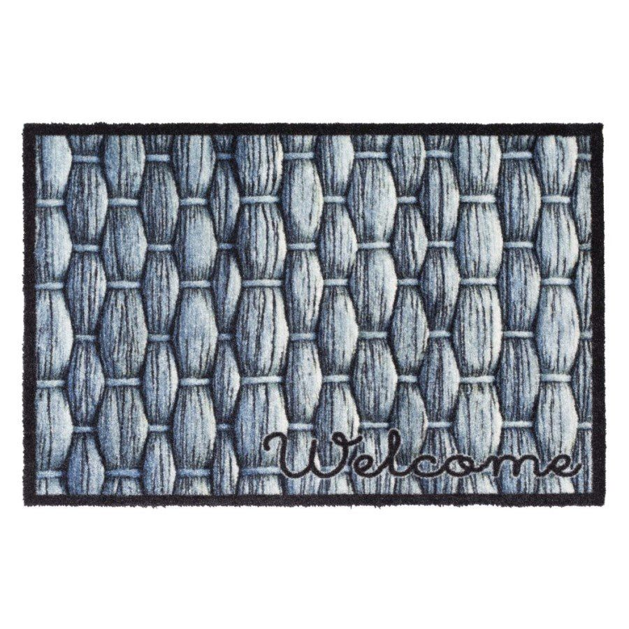 Vnitřní vstupní čistící pratelná rohož Prestige, Welcome knots, FLOMA - délka 50 cm a šířka 75 cm FLOMAT