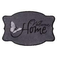 Vnitřní vstupní čistící pratelná rohož Prestige, Welcome home, FLOMA - délka 50 cm a šířka 75 cm