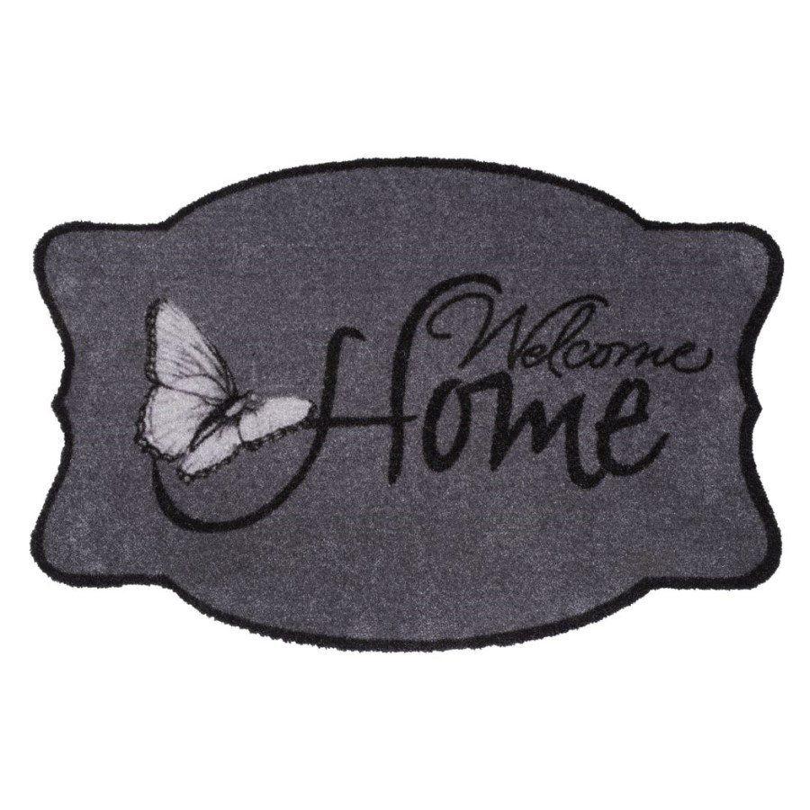 Vnitřní vstupní čistící pratelná rohož Prestige, Welcome home, FLOMA - délka 50 cm a šířka 75 cm FLOMAT
