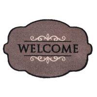Vnitřní vstupní čistící pratelná rohož Prestige, Welcome ornament, FLOMA - délka 50 cm a šířka 75 cm
