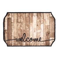 Vnitřní vstupní čistící pratelná rohož Prestige, Welcome wood octagon, FLOMA - délka 50 cm a šířka 75 cm