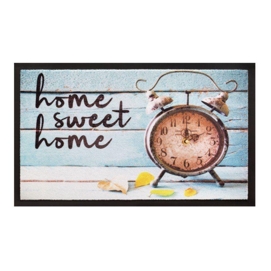 Vnitřní vstupní čistící rohož Image, Home Sweet Home Clock, FLOMA - délka 45 cm a šířka 75 cm FLOMAT