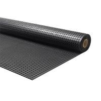 Černá gumová průmyslová protiskluzová rohož Forte - 1000 x 183 x 1 cm