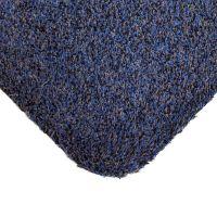 Modrá bavlněná čistící vnitřní vstupní rohož - 100 x 75 x 0,4 cm