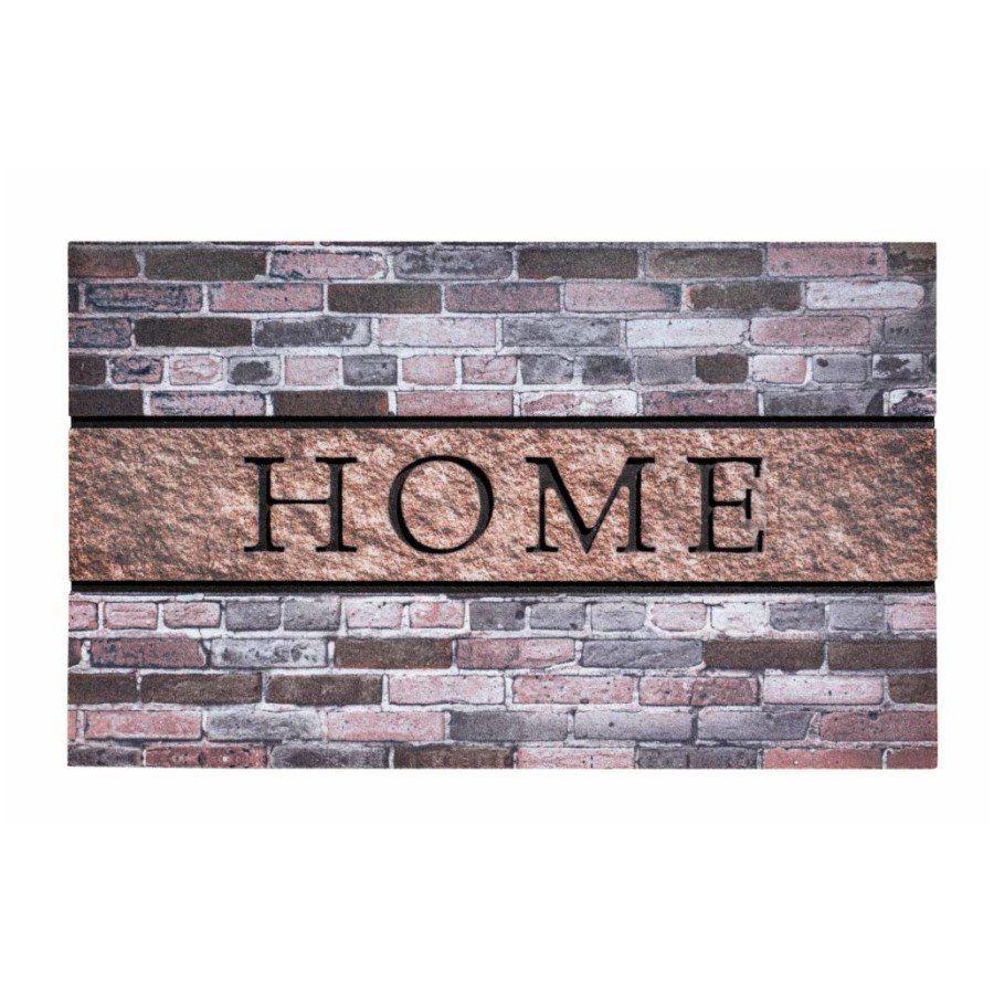 Venkovní vstupní čistící rohož Residence, Home Bricks, FLOMA - délka 45 cm, šířka 75 cm a výška 0,9 cm FLOMAT