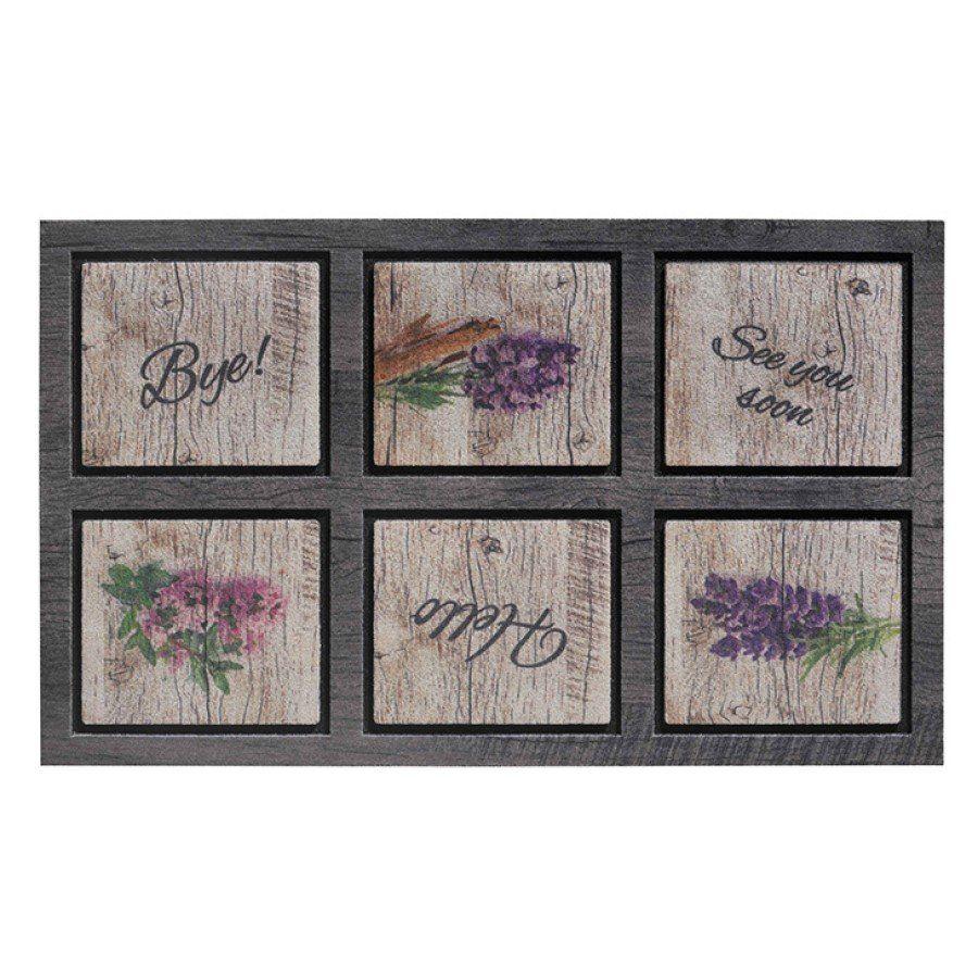 Venkovní vstupní čistící rohož Residence, Lavender, FLOMA - délka 45 cm, šířka 75 cm a výška 0,9 cm FLOMAT