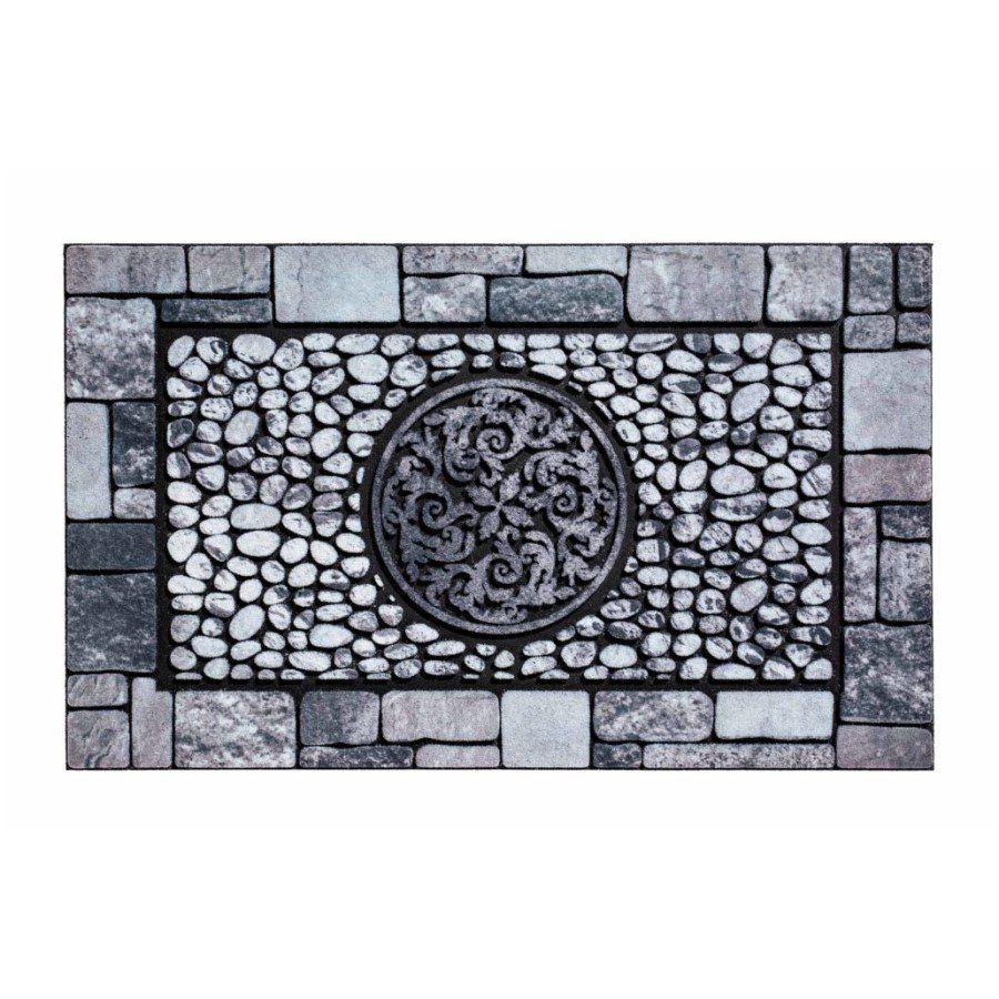 Venkovní vstupní čistící rohož Residence, Ornament, FLOMA - délka 45 cm, šířka 75 cm a výška 0,9 cm FLOMAT