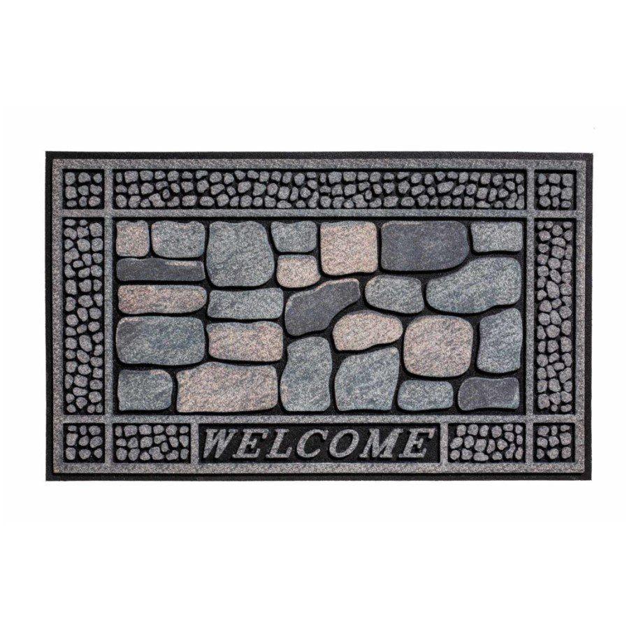 Venkovní vstupní čistící rohož Residence, Stones Welcome, FLOMA - délka 45 cm, šířka 75 cm a výška 0,9 cm FLOMAT