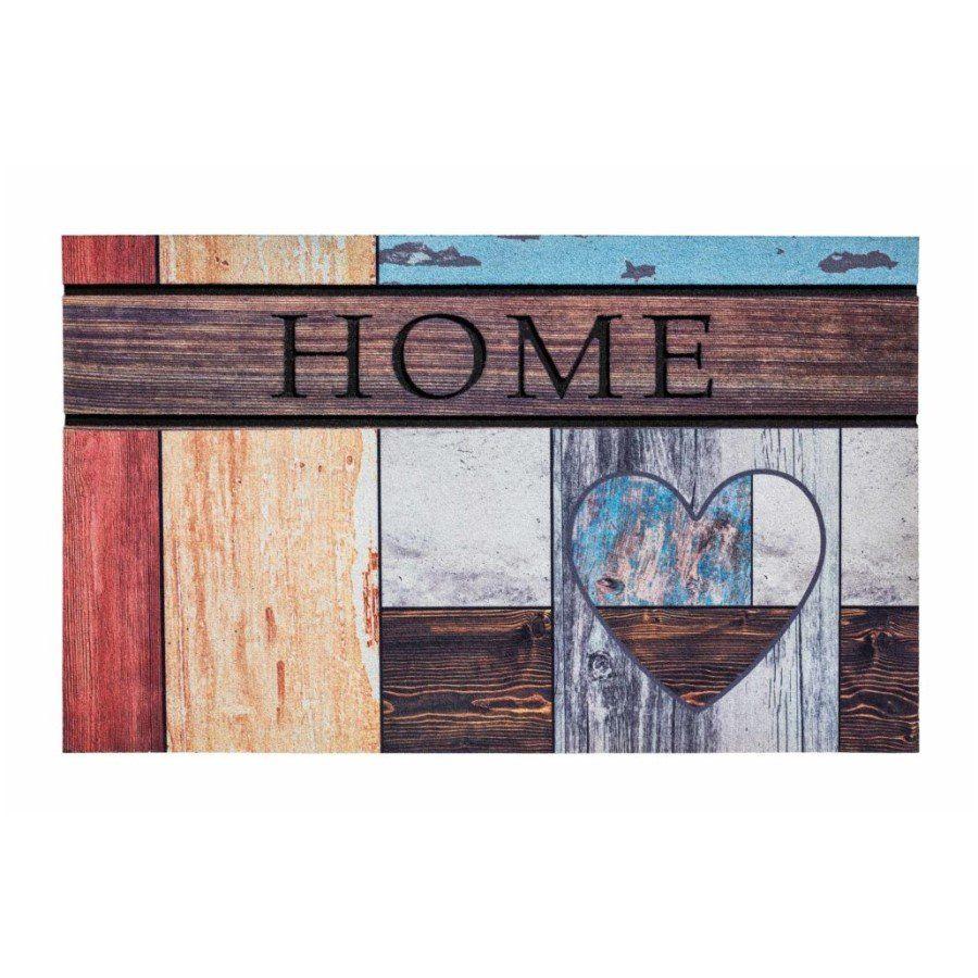 Venkovní vstupní čistící rohož Residence, Top Wooden Heart, FLOMA - délka 45 cm, šířka 75 cm a výška 0,9 cm FLOMAT