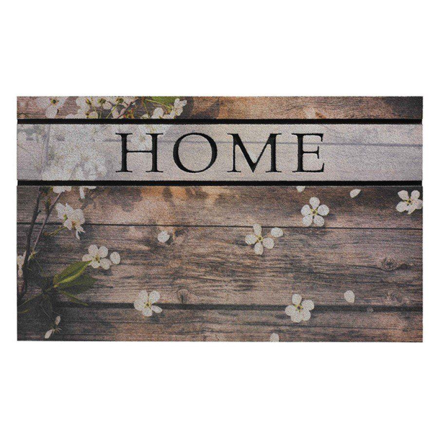Venkovní vstupní čistící rohož Residence, Woodpanel Flowers, FLOMA - délka 45 cm, šířka 75 cm a výška 0,9 cm FLOMAT