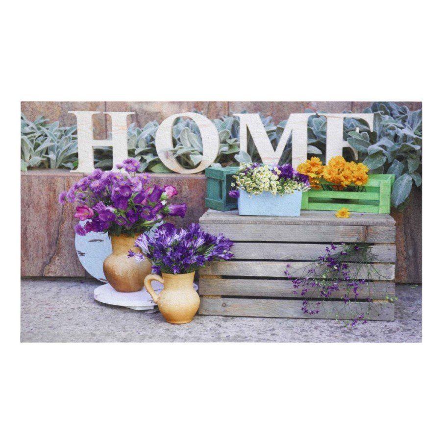 Vnitřní vstupní čistící rohož Gallery, Home Flower, FLOMA - délka 45 cm, šířka 75 cm a výška 0,6 cm FLOMAT