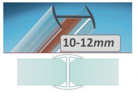 H lišta 12 -12,76 - spojovací pro skla stříšky
