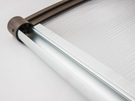 Vchodová stříška Valtellina 150 x 82 cm bílá / čirá