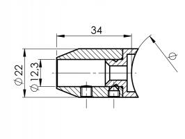 Držák přímý dělený D12mm na trubku 42.4mm