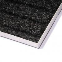 Hliníkový rám pro vstupní rohože a čistící zóny 100 x 100 cm FLOMA pro zapuštění do podlahy - šířka 3 cm, výška 1,5 cm a tloušťka 0,2 cm FLOMAT