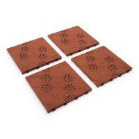 Hnědá plastová terasová dlaždice Linea Easy - délka 40 cm, šířka 40 cm a výška 2,65 cm