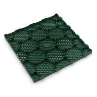 Zelená plastová terasová dlaždice Linea Easy - délka 40 cm, šířka 40 cm a výška 2,65 cm
