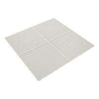 Bílá plastová terasová dlaždice Linea Flextile - délka 39,5 cm, šířka 39,5 cm a výška 0,8 cm