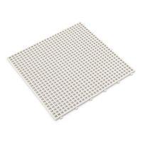 Bílá plastová terasová dlaždice Linea Flextile - 39,5 x 39,5 x 0,8 cm
