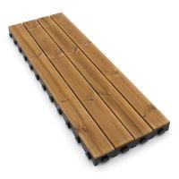 Hnědá dřevoplastová terasová dlaždice Linea Combi-Wood - 40 x 118 x 6,5 cm