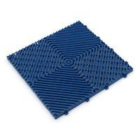 Modrá plastová terasová dlaždice Linea Rombo - délka 39,5 cm, šířka 39,5 cm a výška 1,7 cm
