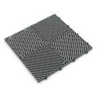 Šedá plastová terasová dlaždice Linea Rombo - 39,5 x 39,5 x 1,7 cm