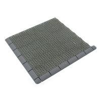 Šedý plastový nájezd pro terasové dlaždice Linea Marte - délka 59,5 cm, šířka 5,3 cm a výška 1,3 cm