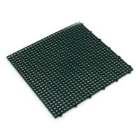 Zelená plastová terasová dlaždice Linea Flextile - 39,5 x 39,5 x 0,8 cm