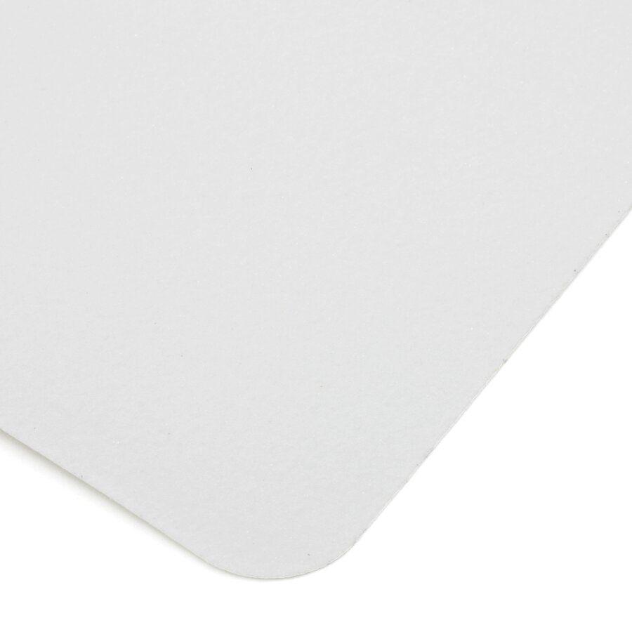 Bílá korundová podlahová páska - délka 14 cm, šířka 14 cm a tloušťka 0,7 mm